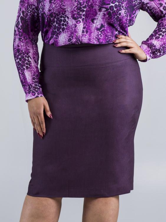 Spódnica fioletowa długa