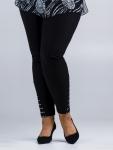 Spodnie czarne z cekinami na nogawkach